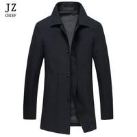 JZ CHIEF Jackets Men Windbreaker Mens Jackets And Coats Trench Coat Men Black Overcoat Men Trench Coat Slim Mens Clothes Jacket