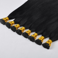 i tip human hair extensions 50s/pcs keratin Brazilian virgin straight hair 0.8g/s i tip hair extensions real hair