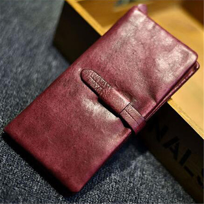 The 2018 New First Layer Of Real Leather Ma'am Oil Wax Retro High-Capacity Multi-Card Bit Long Wallet Clutch Ma'am Genuine the 2018 new first layer of real leather ma am oil wax retro high capacity multi card bit long wallet clutch ma am genuine