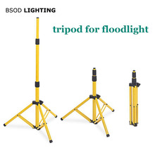 BSOD Adjustable Floodlight Tripod LED Lighting Stand for LED Floodlight Camp Work Emergency Lamp Working Light Tripod  Yellow