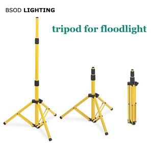 Image 1 - BSOD قابل للتعديل الكاشف ترايبود LED الإضاءة الوقوف ل LED الكاشف مخيم العمل مصباح طوارئ مصباح عمل ترايبود الأصفر