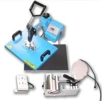 5 IN 1 Cap Mug Plate and T Shirt Sublimation Printer manual combo & swing Heat Press Transfer Printing Machine