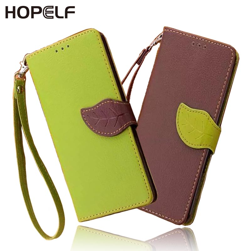Leaf Clasp PU Leather Case for...