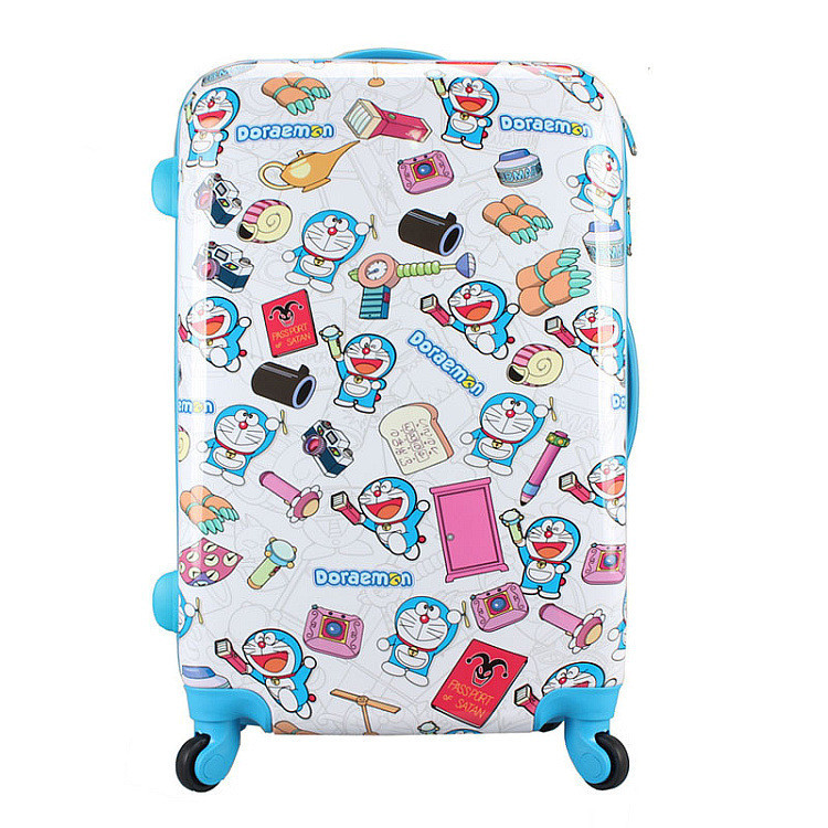 Boy Girl Anime Doraemon Rolling Luggage Suitcase/Children Cartoon ...