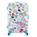 La muchacha del muchacho Anime Doraemon rodar la maleta del equipaje / los niños de dibujos animados Hardside Trolley de viaje / bolso de escuela sobre ruedas