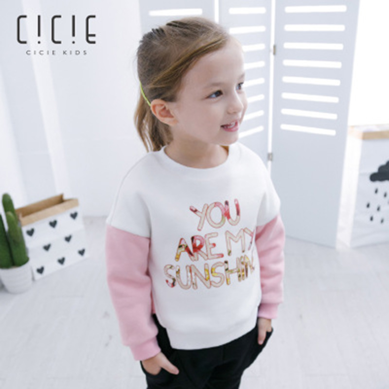Baby Sweatshirts for Girls Long Sleeve Tops T shirts Clothes Pullover Kid Casual Thicken Warm Children Hoodie for Girls 2-8Y