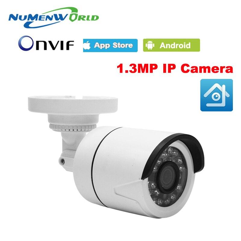 1280 x 960P 1.3MP Waterproof Bullet IP Camera 24LED Outdoor CCTV Camera ONVIF Night Vision P2P IP Security Cam with IR-Cut
