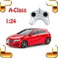 Рождественский Подарок Mercedes A-Class 1/24 RC Nano Автомобиль Игрушки Удаленного Управления По Радио Электрический Родстер Дрейф Автомобиль Вентиляторы Для Детей автомобиль