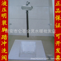 Six in one hydraulic pedal flush valve mounted hydraulic foot pedal squatting pool self closing valve flusher