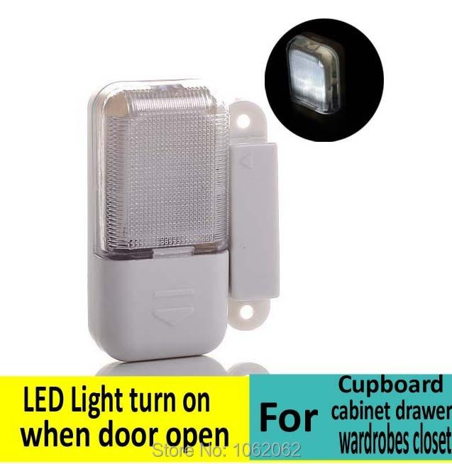 Cupboard Cabinet Drawer Wardrobes Closet Led Lights Light Turns On