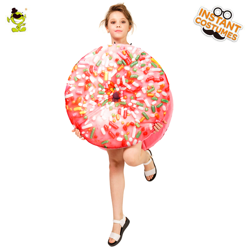 New Design Donut Food Costume Fancy Jumpsuit Cosplay Outfits Clothings For Carnival Halloween Party Holiday