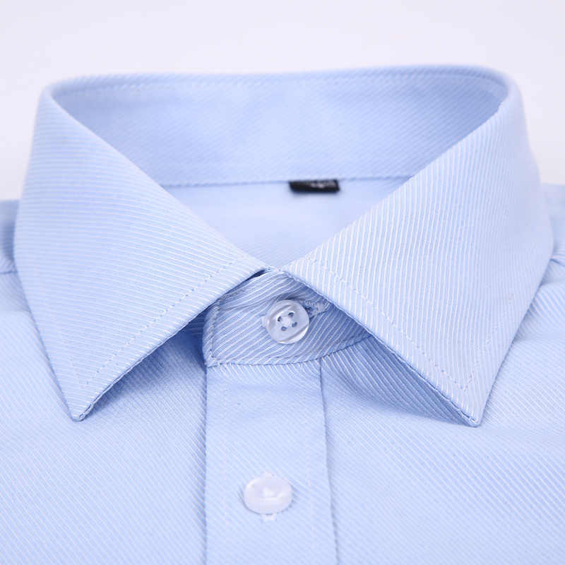 Мужское платье рубашка с длинными рукавами брендовая Новая модная дизайнерская Высококачественная однотонная мужская одежда подходит для деловых рубашек белый синий черный 4XL
