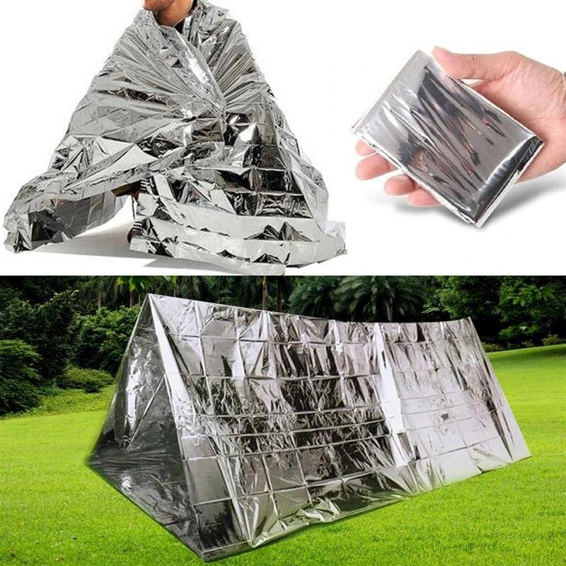 Outdoor Survival Emergency Thermal Blanket Mylar Waterproof Sleeping Bag Foil
