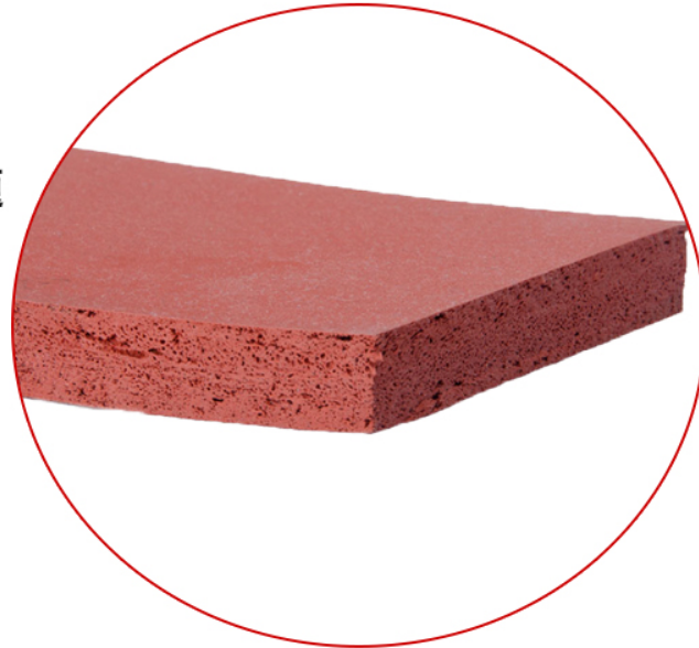 Heat Transfer Rubber Mat 500x500x15mm Closed Cell Silicone Rubber Foam Sheet, 500mm Width, 15mm Thickness Red Color
