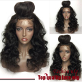 180% Density Natural BodyWave Wig With Baby Hair Black Heat Resistant Hair Wig Synthetic Lace Front Wig Perruque Women Pelucas