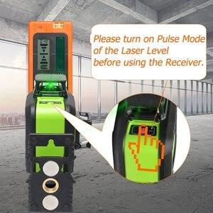 Image 5 - Huepar Laser Level Green Beam Cross Laser Self leveling 360 Degree with 2 Pluse Modes+Huepar Digital LCD Laser Receiver Detector