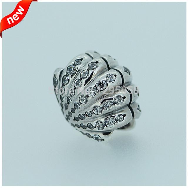 Serve para pandora pulseira encantos ariel shell fandola silver charm beads para fazer jóias 925 sterling silver jóias diy fl15184