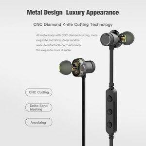 Image 2 - AWEI Bluetooth наушники, беспроводные наушники, стерео, спортивные, в ухо, проводные наушники, гарнитура с микрофоном для iPhone Xiaomi, наушники