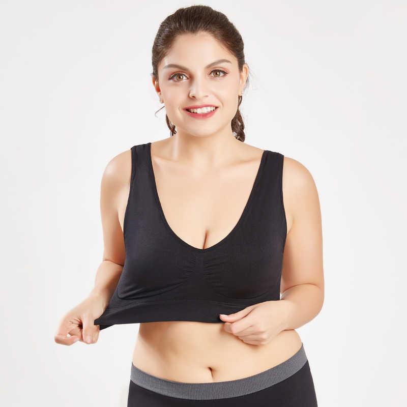 LERFEY Women Sexy Seamless Bra With pads Big Size Push up Bras Plus Size 4XL 5XL Underwear Vest Tops Wireless Padded Brassiere