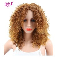 Deyngs Short Blonde Synthetic Women S Wigs Pixie Cut Afro Kinky Curly Hair Wigs Natural African