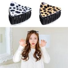 1 PC kobiety koreańskie akcesoria do włosów śliczne Kitty Cat ucha klamra do włosów w stylu Vintage Leopard print spinki do włosów dla dziewczynek akcesoria do stylizacji tanie tanio ELECOOL Akrylowe MF82467 About 4 2*3 2 cm Klip do włosów White brown Acrylic