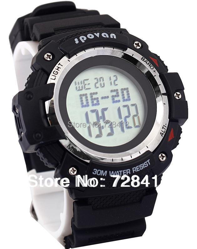 Brand New Barometer, Thermometer, Altimeter, Stopwatch, Timer, World Time. Alarm Multifunction Spovan Sports Watch Clock Hours - Shenzhen E-Shopping Store store