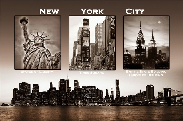 New york city home decoration classic fashion custom free shipping poster print size40x60