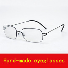2017 Hand-made Screwless Business fashion supper light glasses frame men myopia eyeglasses frames men brand