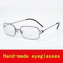 2017 Hand-made Schraubenlose Business fashion supper licht brillengestell männer myopie brillen frames männer marke
