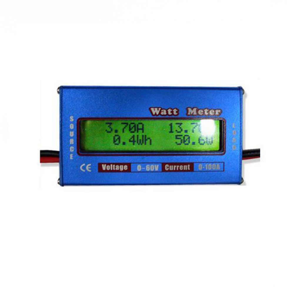 Kỹ Thuật Số Watt Mét Cao Độ Chính Xác Công Suất Máy Phân Tích DC 60V 100A RC Wattmeter Cân Bằng Điện Áp Pin Máy Kiểm Tra W/ nền Màn Hình LCD