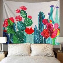 Cactus Watercolor Hanging Wall Tapestries Mandala Bohemian Tapestry Landscape Wallpaper Art Shawl Throw