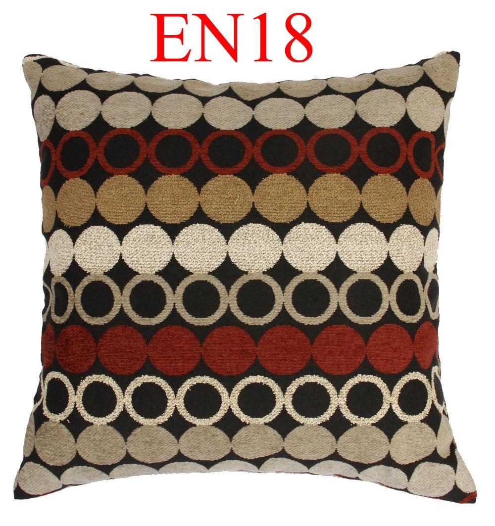 EN18 Black Red Orange Brown Yellow Linen Blending Cotton Cushion Cover Pillow Case Throw Sofa