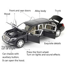 NEW 1/24 Maybach S600 Metalbil Model Diecast Alloy High Simulation Bilmodeller 6 Døre kan åbnes inerti Legetøj til børn