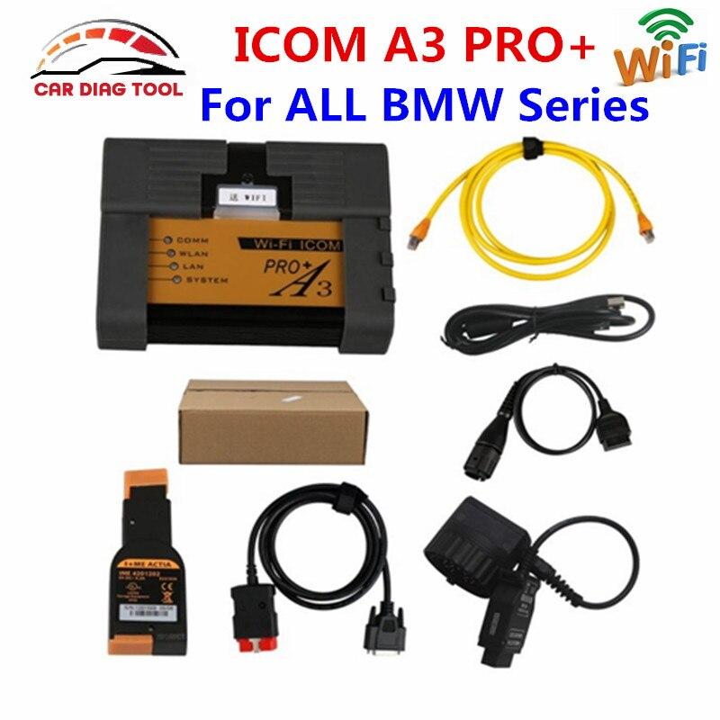 Prix pour Top Qualité Pour BMW ICOM A3 + B + C + D Matériel V1.40 Auto OBD2 Outil de diagnostic Avec Livraison WiFi Fonction Pour BMW ICOM A3 PRO +