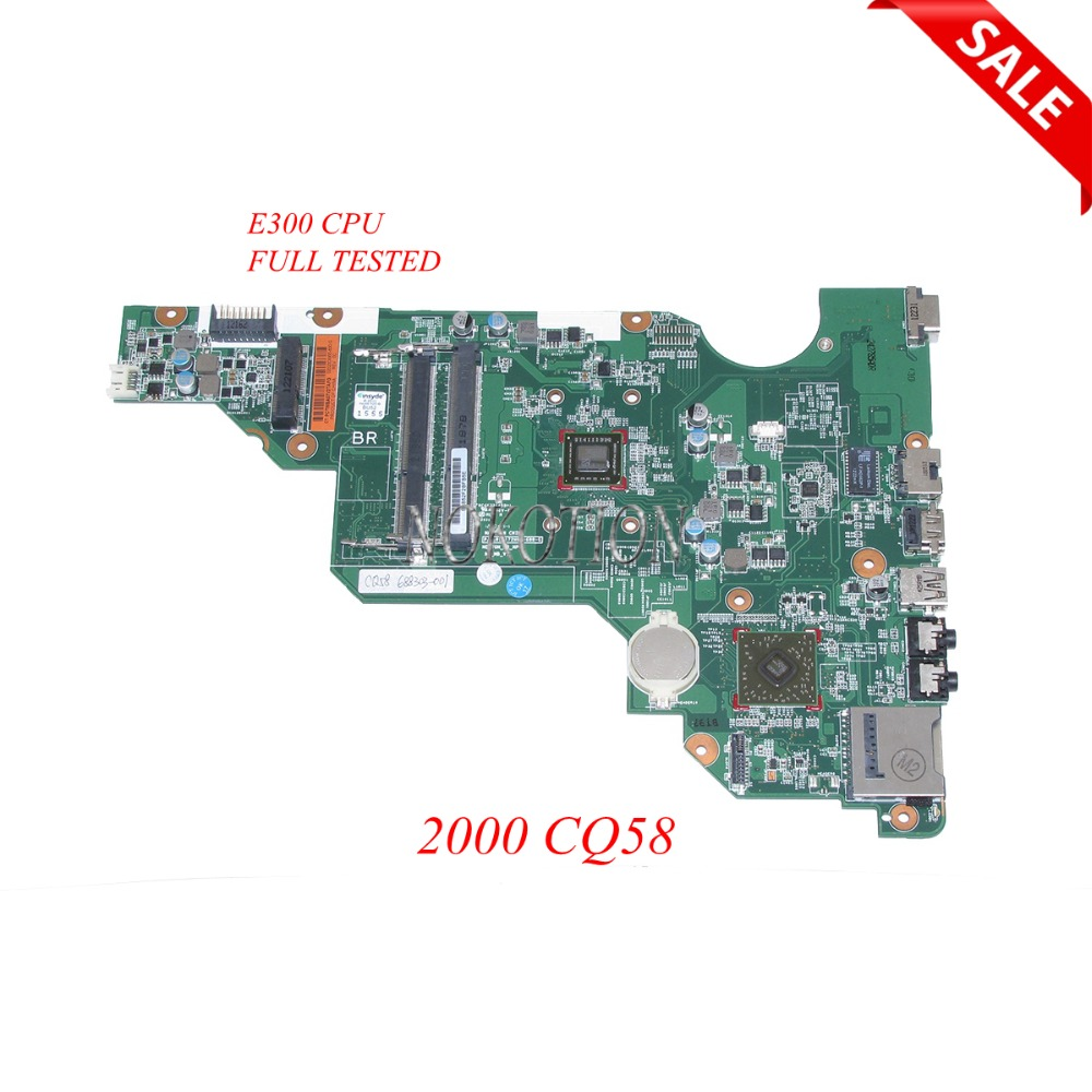 NOKOTION PN 010172W00-600-G laptop motherboard 688303-501 688303-001 for HP 2000 Compaq 2000 CQ58 688303-001 Main board WORKS