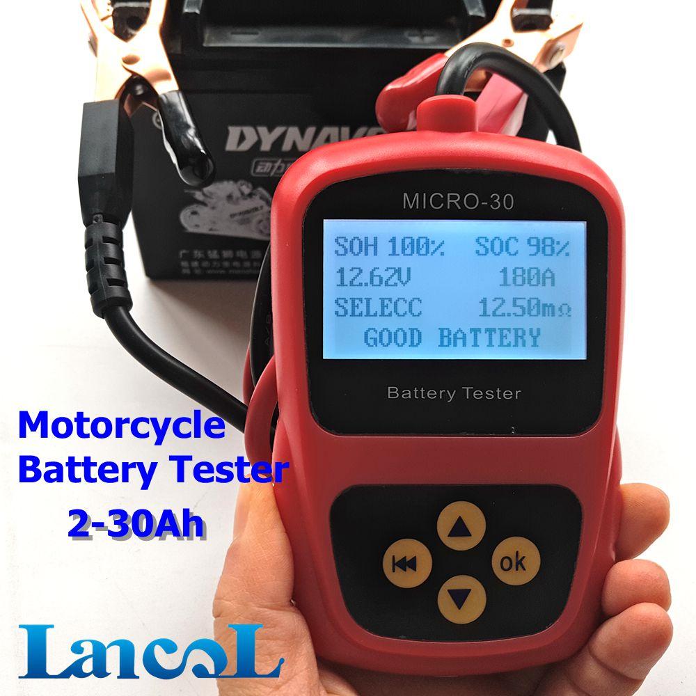Prix pour LANCOL Moto batterie testeur/Moto Outil De Diagnostic MICRO-30 2-30Ah