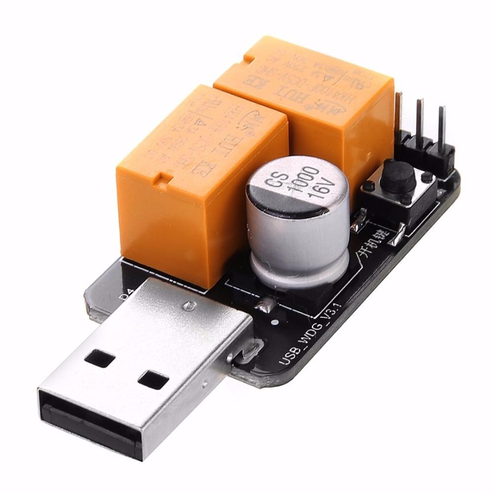 все цены на High Quality USB Watchdog Card Module Timer One Button Boot Blue Screen Auto Restart For Mining Machine PC Game Server Mayitr онлайн
