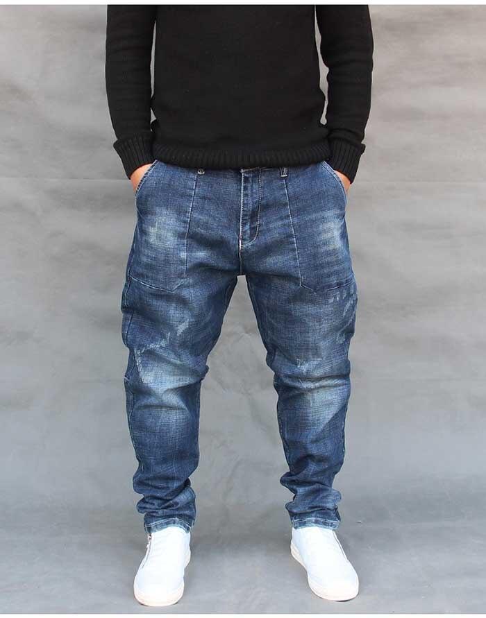 Men Casual Loose Fashion Denim Jeans