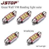 JSTOP 5 teile/satz Mauer V80 super helle auto leseleuchten stamm lampen 12VAC girlande led canbus led 36mm C5W lesen lampen