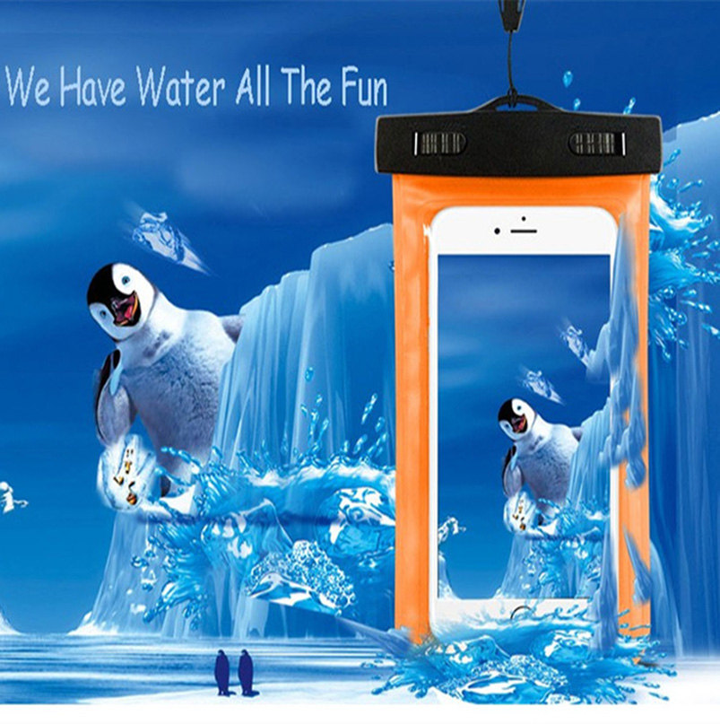 Universal waterproof phone case For <font><b>ASUS</b></font> <font><b>ZenFone</b></font> Go ZB552KL <font><b>X007D</b></font> ScreenTouch Mobile Phone Waterproof Bag Smartphone accessory image