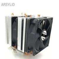 3PIN 4 Heatpipes Double Fan CPU Cooler 9cm Doublecooling Fan Support AMD Intel LGA775 1151 1366