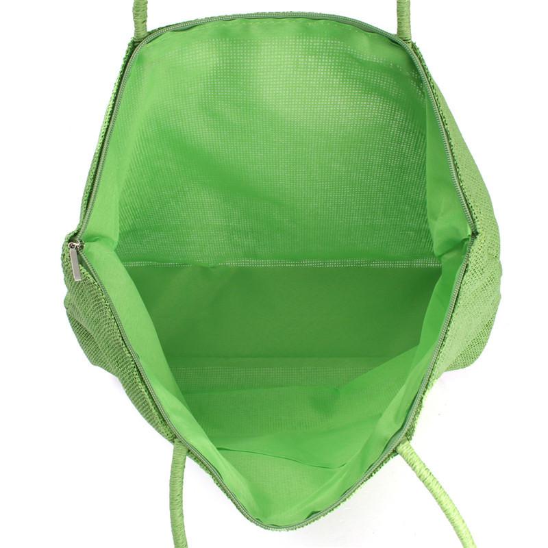 2017 Hot New Design Straw Popular Summer Style Weave Woven Shoulder Tote Shopping Beach Bag Purse Handbag Gift FreeShipping N770 15