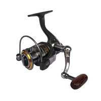 High Quality Metal Fishing Reel 11BB 1000 - 6000 Series Spinning Reel For Feeder Fishing Wood Handle Left/Right Handle Saltwater