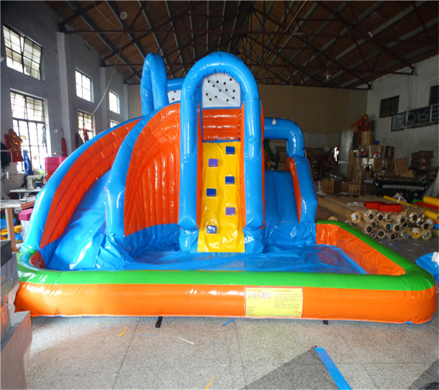 Giant Inflatable Water Slide with Pool , Inflatable Pool Slides for Inground Water Pools