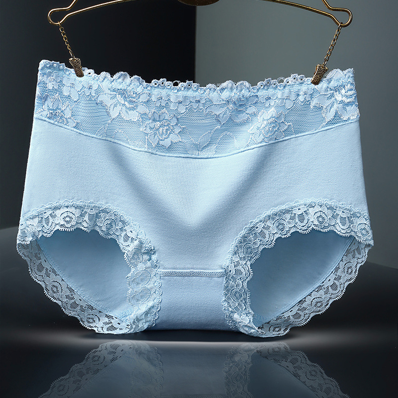 Women Cotton Underwear   Panty   Middle-waisted Breathable Lingerie Female Sexy lace   Panties   Body Shaping Briefs