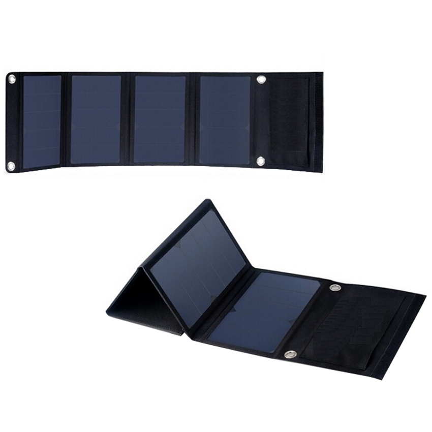 ФОТО 22W 5V Folding Solar Panel Portable High Efficiency Sunpower Dual USB Output Solar Panel Charger for iPhone & 5V Device