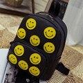 Moda Feminina Mochila 3D Emoji Sorriso Impressão Bolsa de Ombro Escola Jovens Homens Mochila de Viagem Sacos Mochilas Femininas