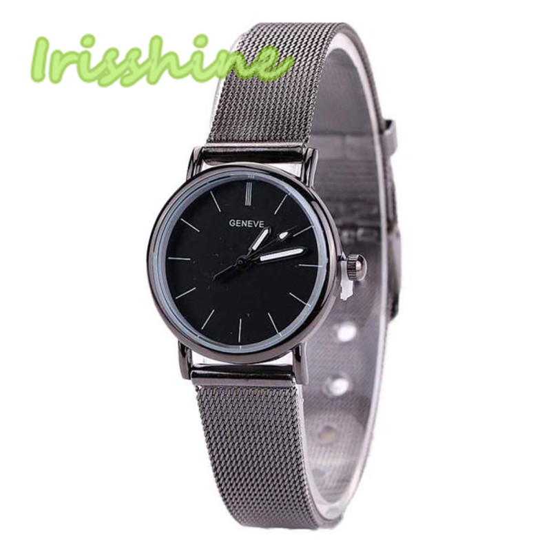 Irisshine I0272 Couple Watches Fashion Lovers Metal Mesh Band Fashion Quartz Wrist Watch Love Gift Men And Women
