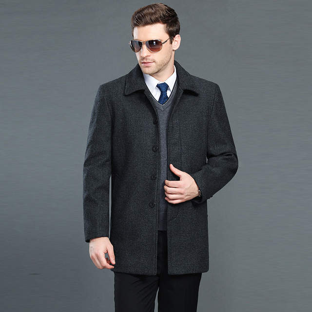 7ba6d1048ed6a Man Trench Coat Wool Coat Winter Peacoat Men s Wool Coat Mens Overcoat  Men s Coats Male Clothing