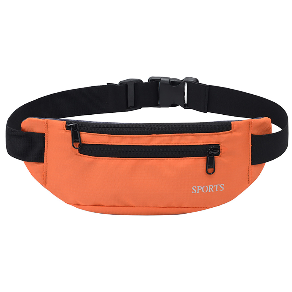 SchöN Frauen Sport Taille Pack Einfarbig Brust Tasche 2019 Neue Ankunft Handy Ultra-dünne Doppel-reihe Zipper Wasserdichte Taschen Quell Sommer Durst